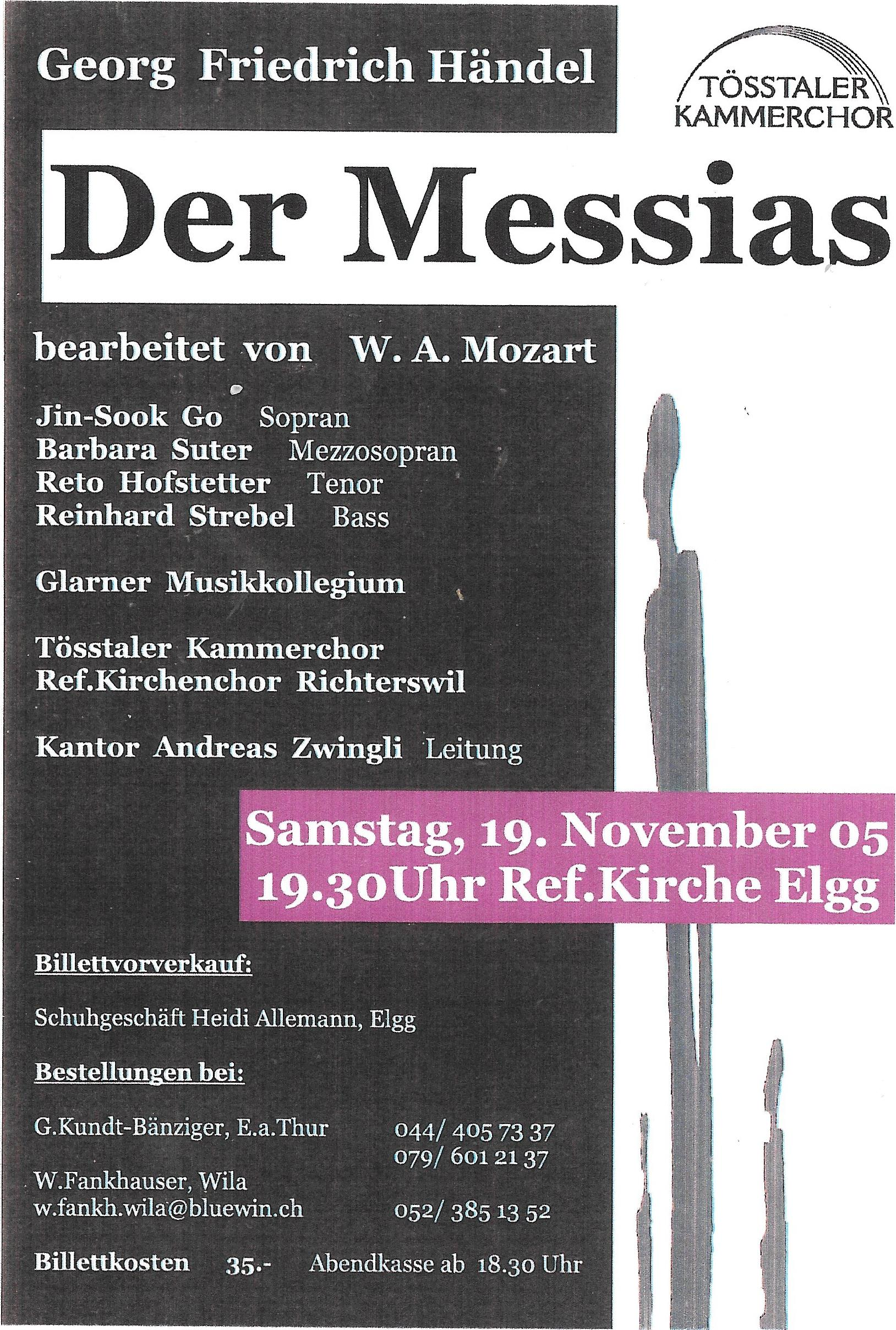 Messias nach Mozart, 2005